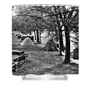 Finger Lakes Camping Shower Curtain