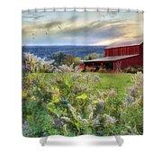 Finger Lakes Farm Shower Curtain