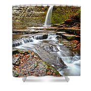 Finger Lakes Waterfall Shower Curtain