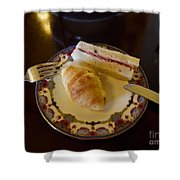 Finger Sandwiches For Traditional Afternoon Tea Shower Curtain