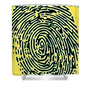 Finger Tip Tale Shower Curtain