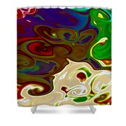 Fingerpainted Fantasy Shower Curtain