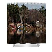 Finn Village On Demond Pond - Rutland Massachusetts Shower Curtain