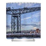 Finnieston Crane Glasgow Shower Curtain