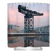 Finnieston Crane Reflections Shower Curtain