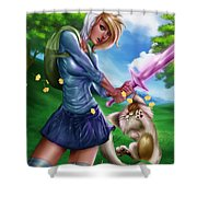 Fionna And Cake Shower Curtain
