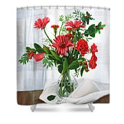 Fiori Rossi Shower Curtain