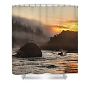 Fire And Fog At Trinidad Shower Curtain by Adam Jewell