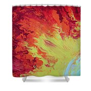 Fire And Glory Shower Curtain