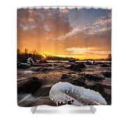 Fire And Ice Shower Curtain by Davorin Mance