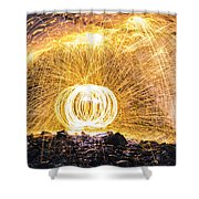 Fire And Ice II Shower Curtain