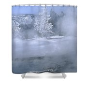 Fire And Ice II - Yellowstone Shower Curtain