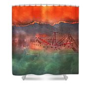 Fire And Ice Misty Morning Shower Curtain