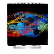 Fire And Ice Smoke  Shower Curtain