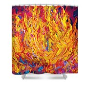 Fire And Passion - Here's To New Beginnings Shower Curtain