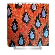 Fire And Rain Reversible Shower Curtain