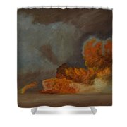Fire And Sand Shower Curtain