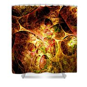 Fire And Shadow Shower Curtain