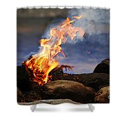 Fire And Smoke Shower Curtain