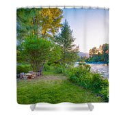 Fire And Water At Cottonwood Cottage Shower Curtain