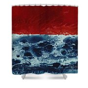 Fire And Water Shower Curtain by David Neace