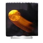 Fire Ball Moon Shower Curtain