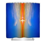 Fire Bird Sky Shower Curtain