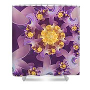 Fire Blossom Shower Curtain