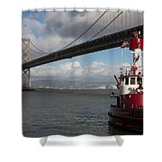 Fire Boat #2 Shower Curtain