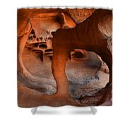 Fire Cave Windstone Arch Nevada Shower Curtain