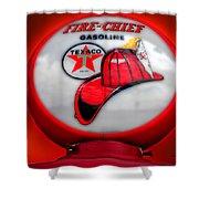 Fire Chief Gasoline Globe Shower Curtain