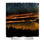 Fire Clouds Shower Curtain