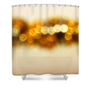 Fire Dance - Warm Sparkling Abstract Art Shower Curtain by Sharon Cummings
