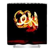 Fire Dancer 4 Shower Curtain