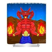 Fire Demon Shower Curtain