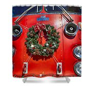 Fire Department Christmas 1 Shower Curtain