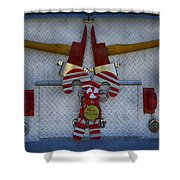 Fire Department Christmas 3 Shower Curtain
