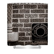 Fire Department Connector Shower Curtain