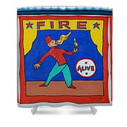 Fire Eater Shower Curtain