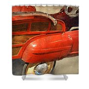 Fire Engine Pedal Car Shower Curtain
