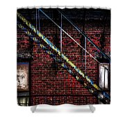 Fire Escape And Windows Shower Curtain