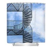 Fire Escape Shower Curtain by Antony McAulay