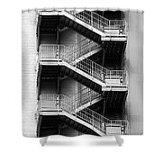Fire Escapes Shower Curtain