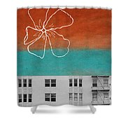 Fire Escapes Shower Curtain by Linda Woods