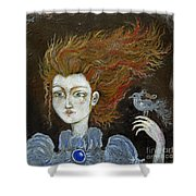 Fire Haired  Girl Shower Curtain