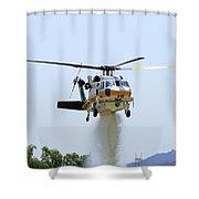 Fire Hawk Water Drop Shower Curtain