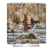 Fire Hydrant For The Weeds Shower Curtain