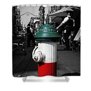 Fire Hydrant From Little Italy Shower Curtain