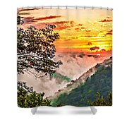 Fire In The Hole - Painted  Shower Curtain