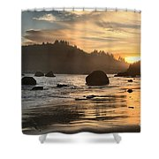 Fire In The Sand Shower Curtain by Adam Jewell